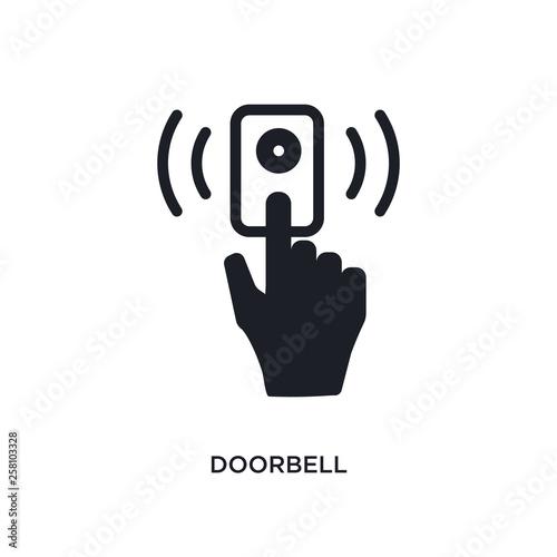Valokuvatapetti doorbell isolated icon