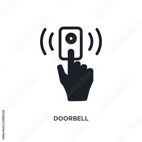 Fototapeta doorbell isolated icon