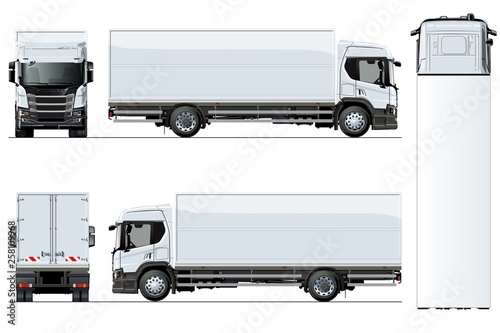 Fotomural Vector truck template isolated on white background