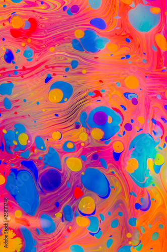 Abstract marbling art patterns  as colorful background Fototapete