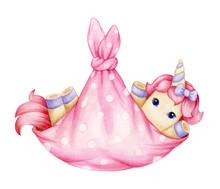 Cute  Baby Unicorn Cartoon  I...