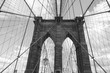 brooklyn bridge in new york. B&W