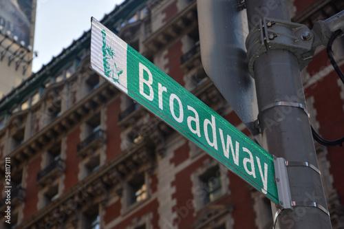 Cuadros en Lienzo  Broadway ft7112_0388 New York