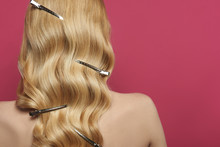 Hairstyle With Barrette Clips On Blonde Hair