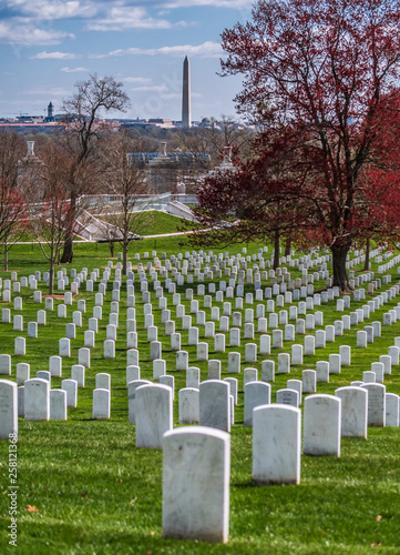 Foto op Canvas Begraafplaats Tombstone at Arlington National Cemetery