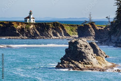 Valokuva  Cape Arago Lighthouse on the Pacific Coast of Oregon.