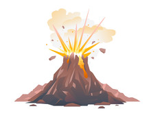 One Big Brown Volcano With Exp...
