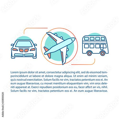 Fotografija  Public transport concept linear illustration