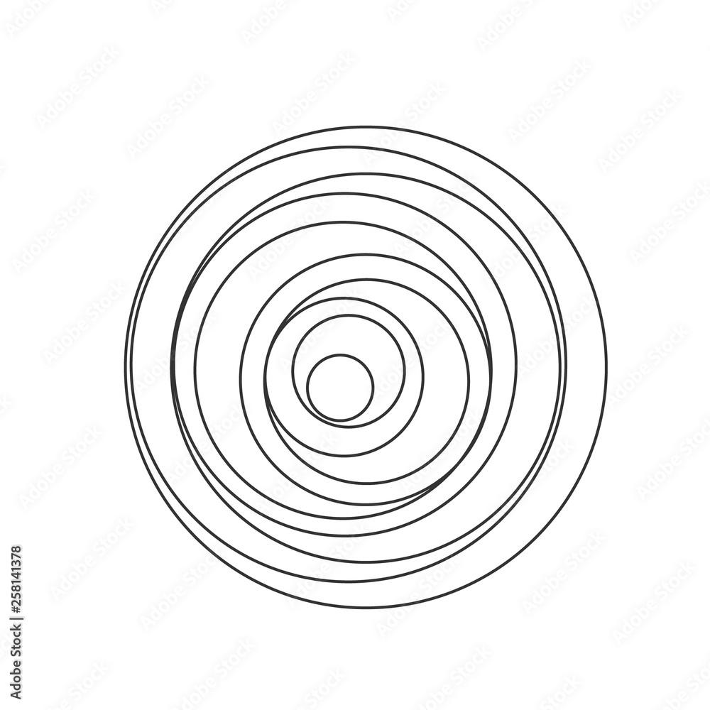 Fototapeta Circular spiral sound wave