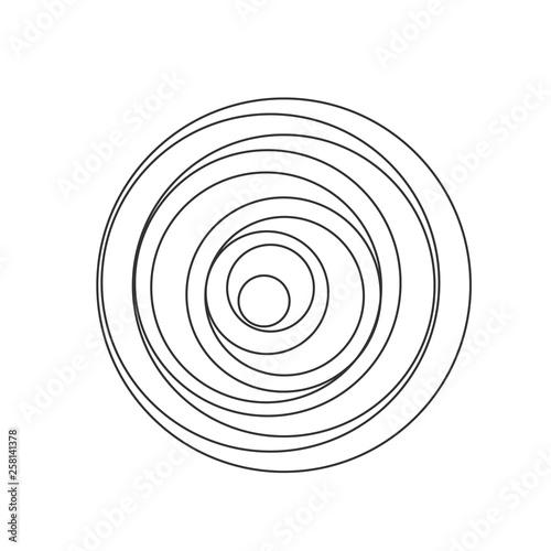 Obraz Circular spiral sound wave - fototapety do salonu