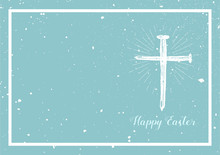 Easter Background With Cross H...