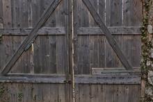 Old Wooden Door From A Ruin