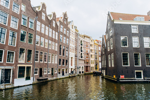 Photo  Amsterdam, Netherlands September 5, 2017 : Streets, canals and architecture of Amsterdam