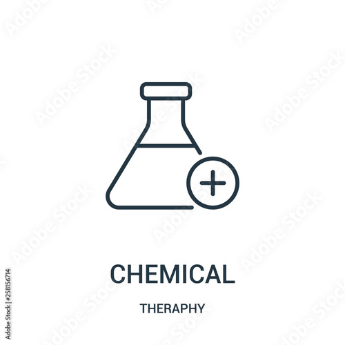 Fotografia  chemical icon vector from theraphy collection