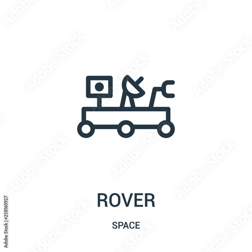 Photo  rover icon vector from space collection