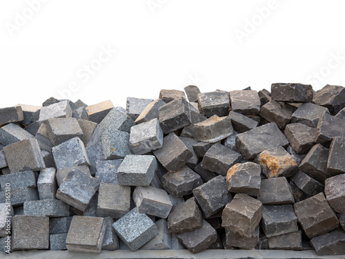 tone stonewall with san stone block - Buy this stock photo