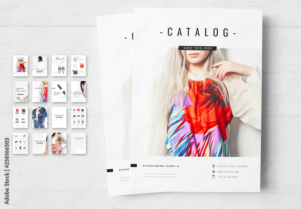 Fototapety, obrazy: Black and White Product Catalog Layout