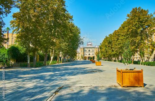 Relax in Bagh-e Melli Garden, Tehran, Iran
