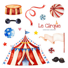 Lovely Circus Set.Illustration...