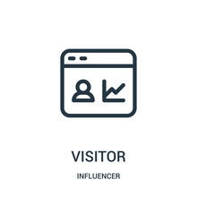 Visitor Icon Vector From Influ...