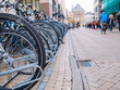 Bicycle parking in the city center in most students city in Netherlands - Groningen