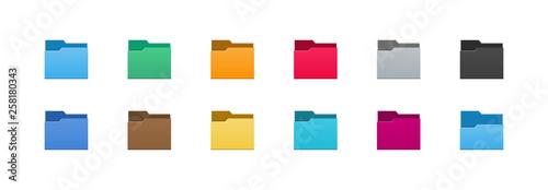 Cuadros en Lienzo Folder icons set