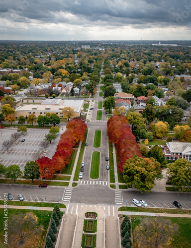 Autumnal View from Nebraska Capitol dome, Lincoln  Fotomurales