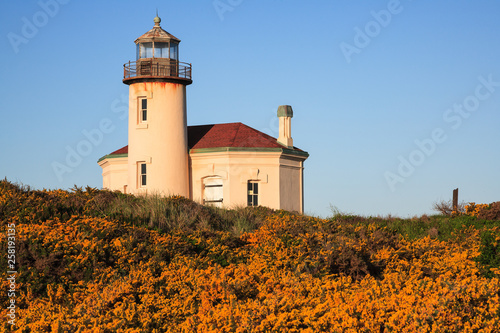 Fototapeta  Coquille River Lighthouse on the Pacific Coast Near Bandon, Oregon