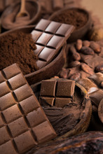 Cocoa Beans And Chocolate On N...