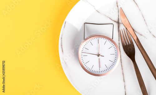 Concept minimal Time to Eat Tablou Canvas