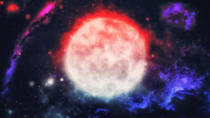 czerwona planeta w kosmosie