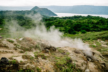 Scenic View Of Taal Volcano, Philippines, The Smallest Volcano In The World