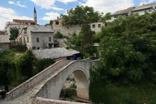 Crooked Bridge, Mostar, Bosnia And Herzegovina