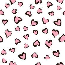 Leopard Heart Seamless Tiling ...