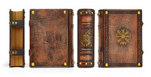 Aged Leather Book With Gilded ...