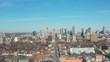 4K Aerial Establishing shot of a Downtown Toronto Neighborhood in late March.