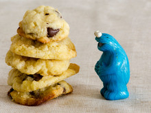 Cookie Monster Playmobil People And A Chocolate Chip Cookie