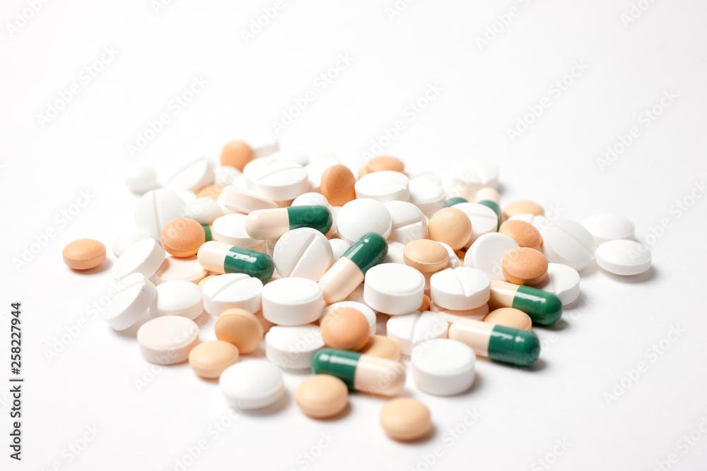 Fototapeta たくさんの薬の山