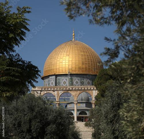 Fotografie, Obraz  The Temple Mount Dome of the Rock Jerusalem, Israel