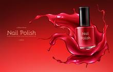 Red Nail Polish 3d Realistic V...
