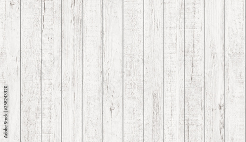 Fotomural  White wood pattern and texture for background. Close-up.
