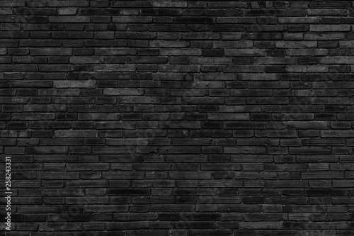Poster Baksteen muur Background black wall large texture.