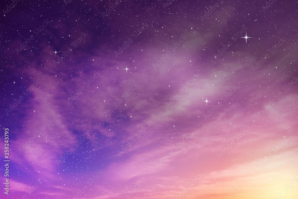 Fototapeta colorful night sky