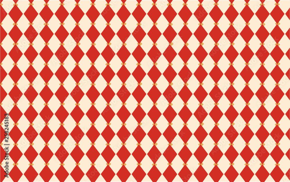 Fotografía Circus Harlequin Classic Vintage Wallpaper