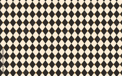 Circus Black And White Harlequin Classic Vintage Wallpaper