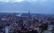 aerial view of East Nanjing Road, Shanghai, China. In dawn