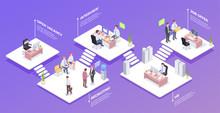 Recruitment Isometric Background Composition