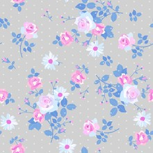 Seamless Floral Pattern With B...