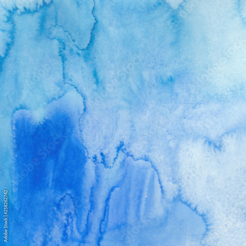 Fototapety, obrazy: Blue watercolor background