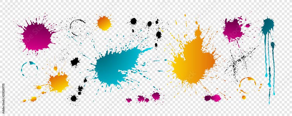 Fototapeta Color blots with drops